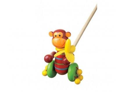 dřevěná opice na tyči