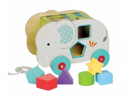 vkládací dřevěný slon 2