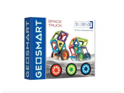 GeoSmart - magnetická stavebnice Space truck - 42 ks