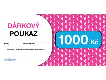 Poukaz 1000Kc Spokonozka