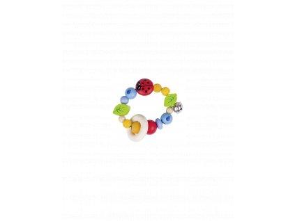 hracka do ruky dva krouzky s beruskou rolnickou a listy