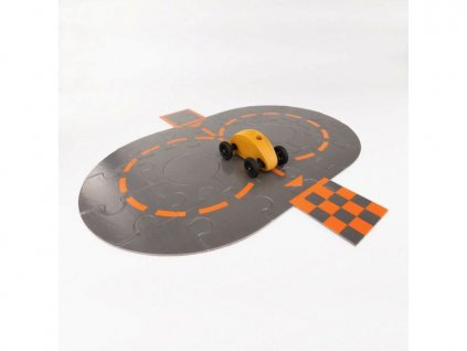 fingercar auticko zlute s puzzle skladackou I racetrack