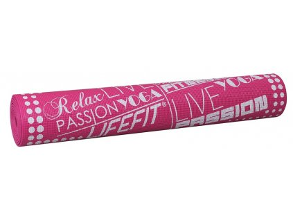 Gymnastická podložka LIFEFIT SLIMFIT, 173x58x0,4cm, světle růžová