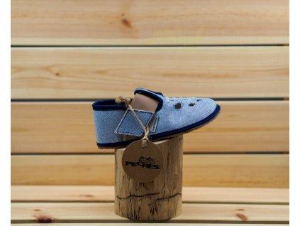 Barefoot Pegres papučky BF03 modrá