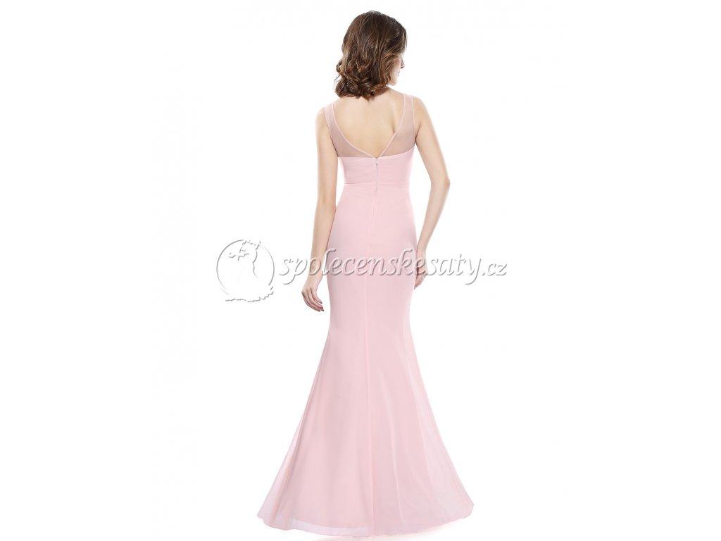 Růžové plesové společenské šaty s flitry a rozparkem na maturitní ... 5a4cf096af