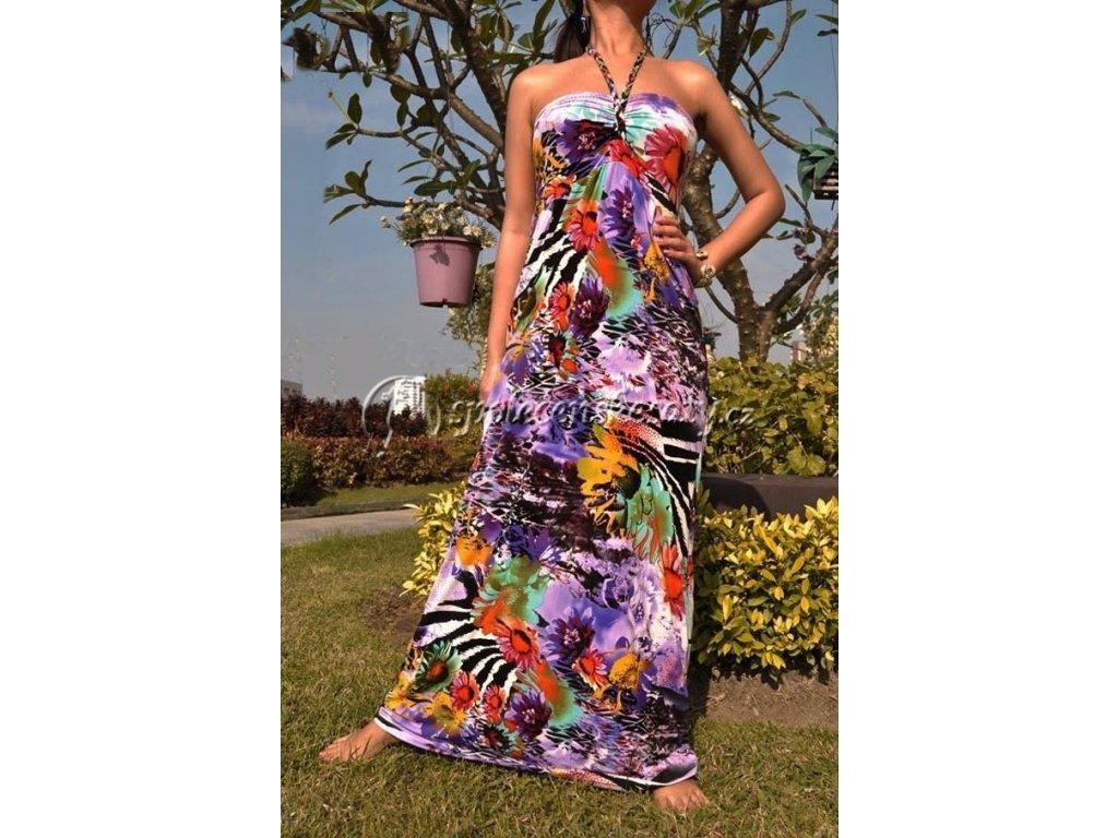 Letní maxi společenské šaty vel. S 7017 - www.spolecenskesaty.cz 05896f89c9