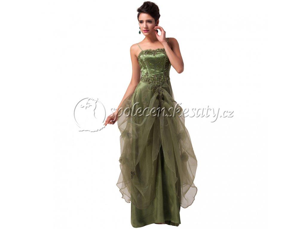 b03feae42dd2 Zelené princeznovské šaty pro plnoštíhlé vel. XXL 4133 - www ...