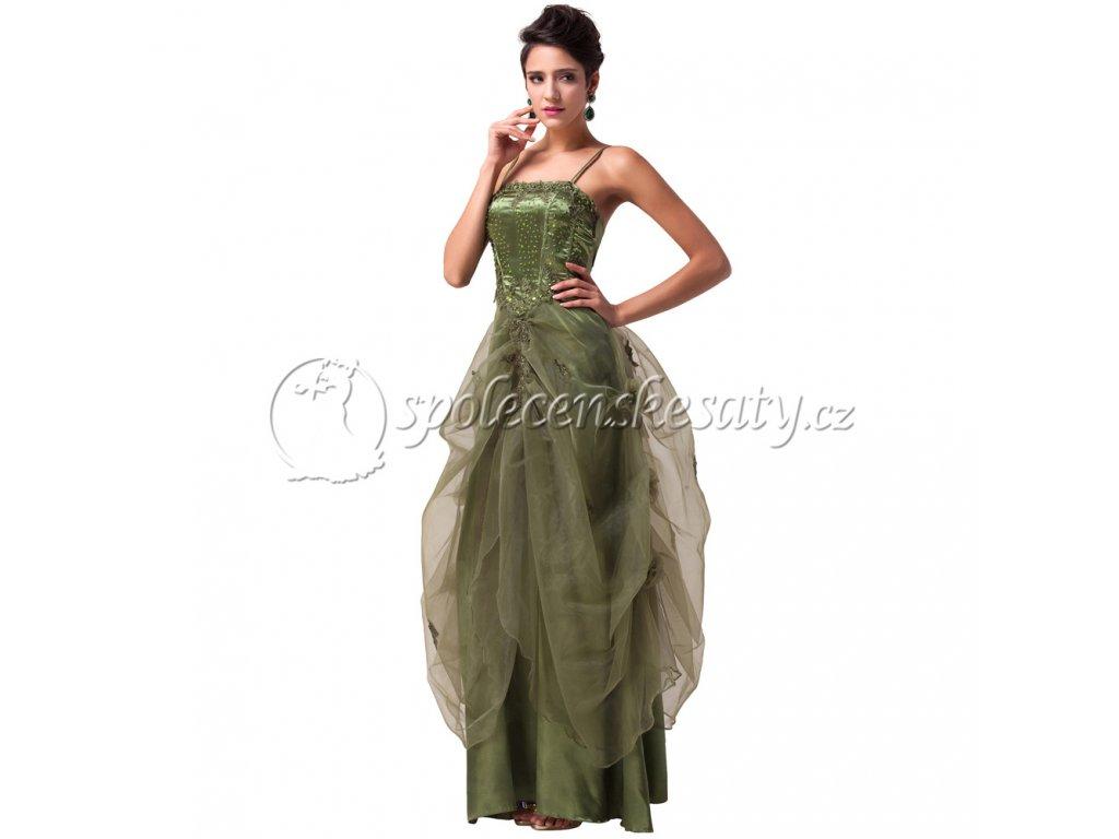 Zelené princeznovské šaty pro plnoštíhlé vel. XXL 4133 - www ... 39eda234e1