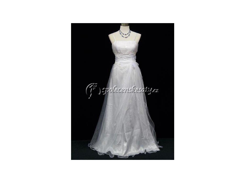 0ee5f6b22d8 Bílé svatební společenské dlouhé šaty nadýchané vel. M - www ...