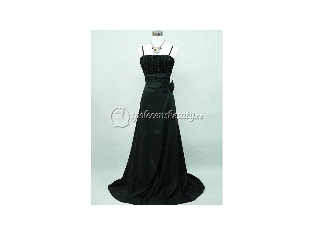 Černé dlouhé společenské šaty pro dámy na ples i na svatbu 38-44 ... 988e020cb61