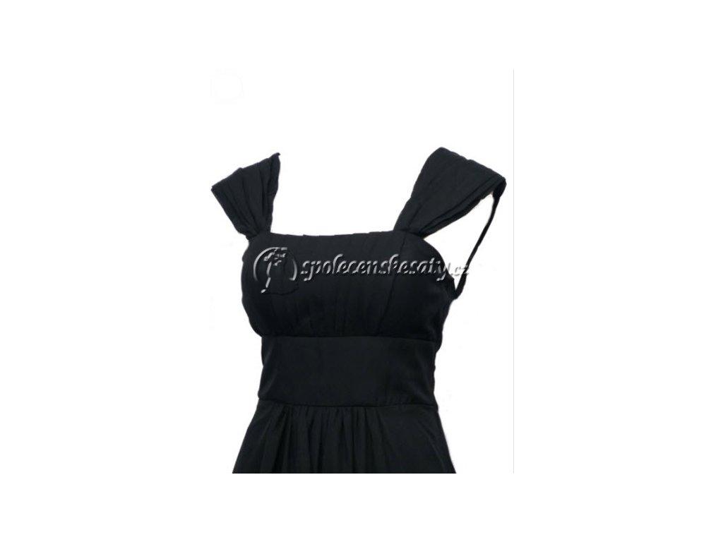 ... Černé dlouhé společenské šaty se šněrovačkou pro těhotné plnoštíhlé na ples  38-44 ... fa6e75f697a