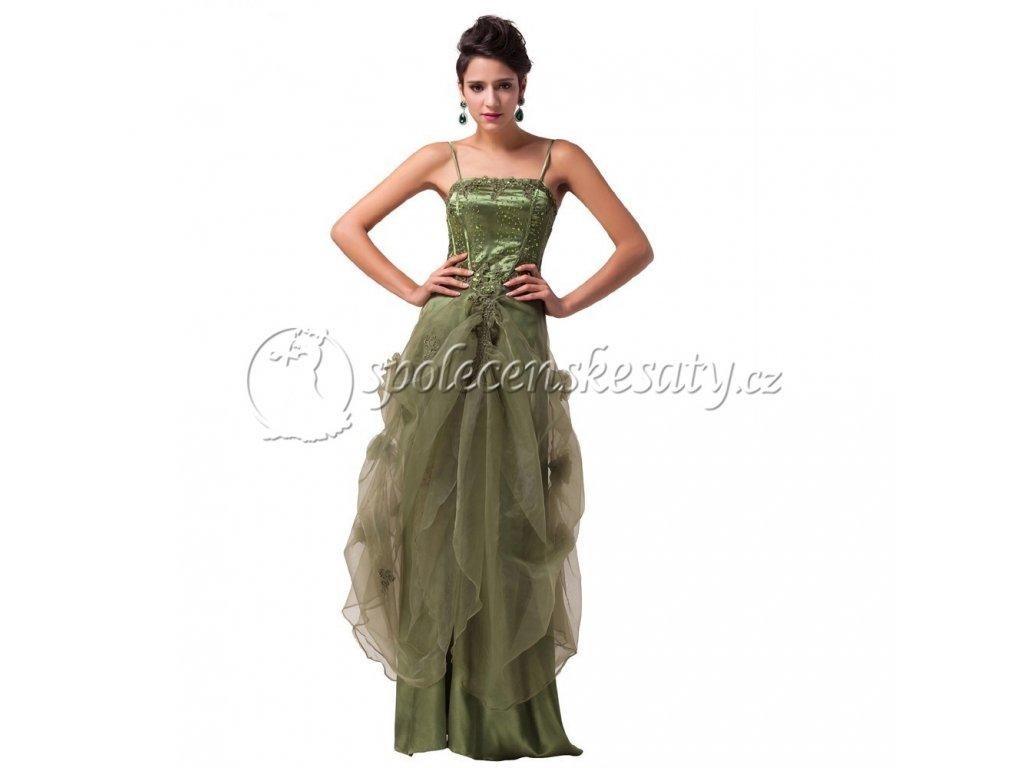 b5df89a8f4d Zelené plesové šaty pro princezny nadměrná velikost 50-54 - www ...