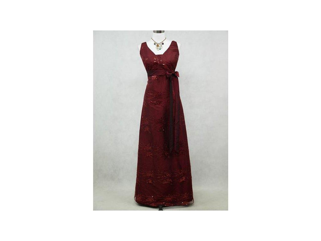 2e8b577331c Červené vínové společenské plesové levné šaty na široká ramínka na ...