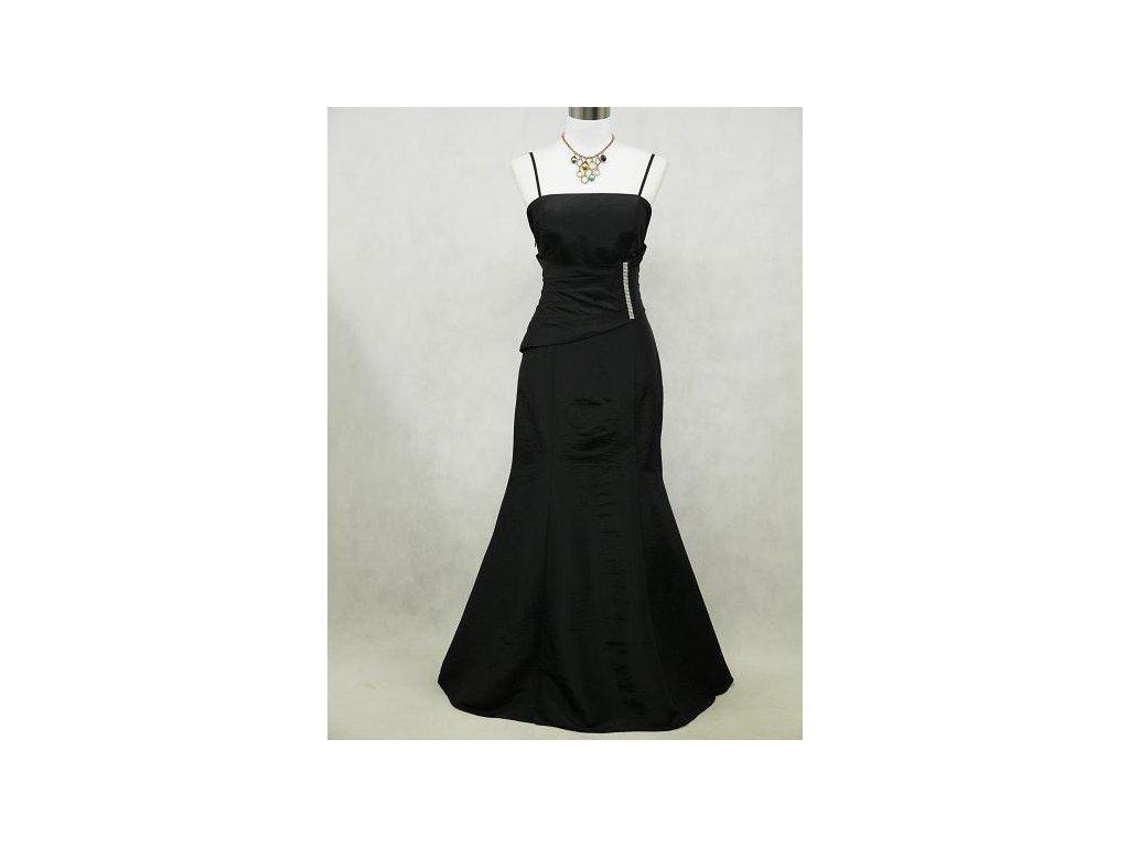 Černé dlouhé elegantní šaty pro plnoštíhlé na ples prvorepublikové ... a91707c3e9