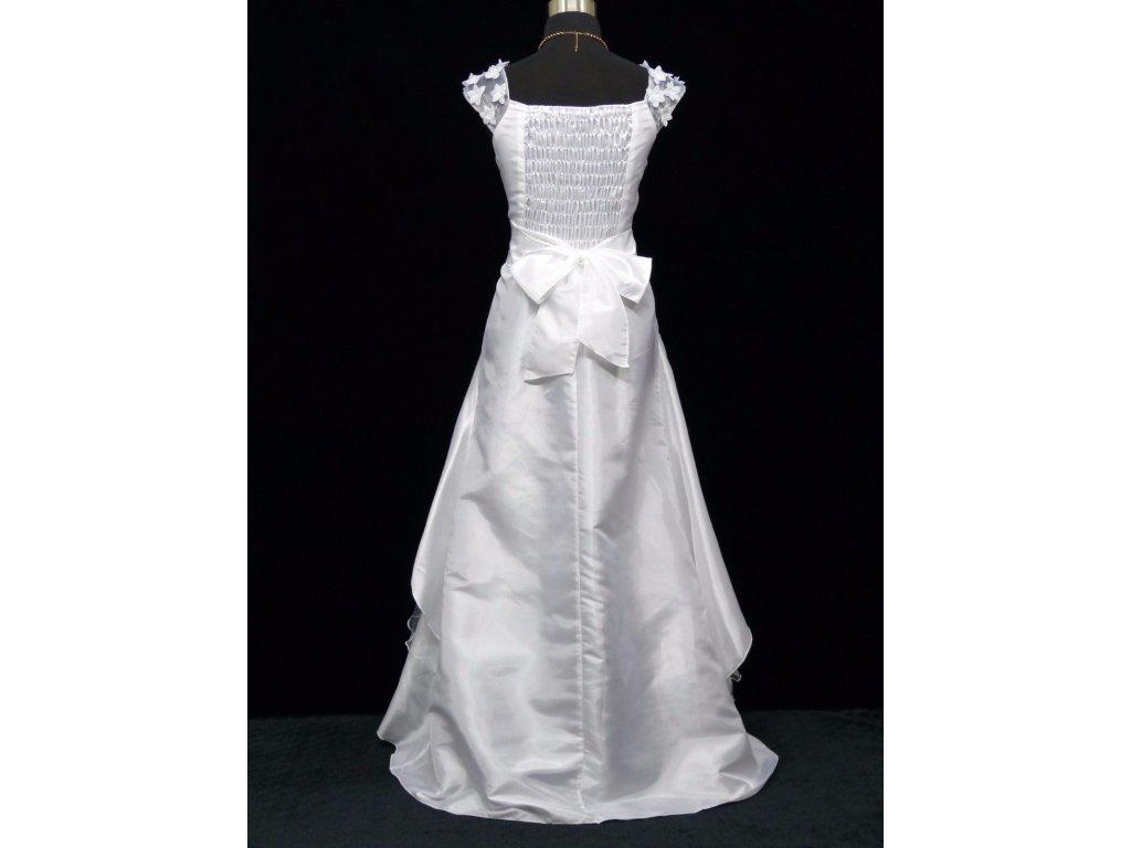 0f710bd1020 ... Bílé dlouhé svatební šaty na hrubší ramínka a vyšívaným topem 5