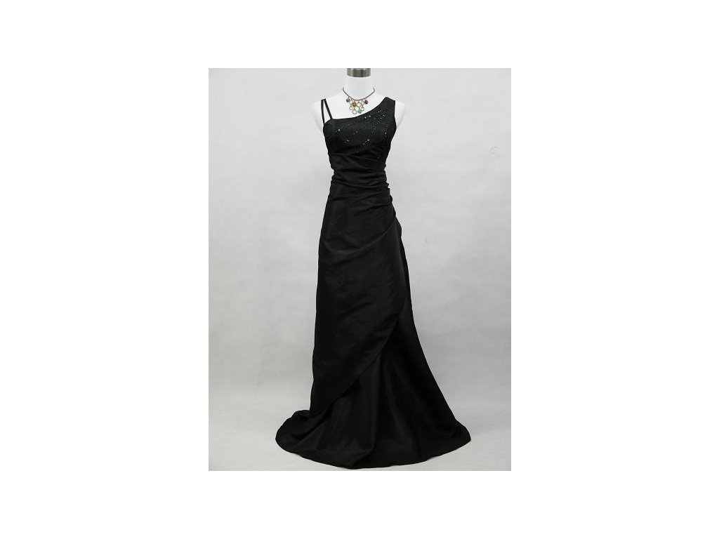 Černé dlouhé společenské plesové šaty nadměrná velikost pro plnoštíhlé  zavinovací 5401d5ada1