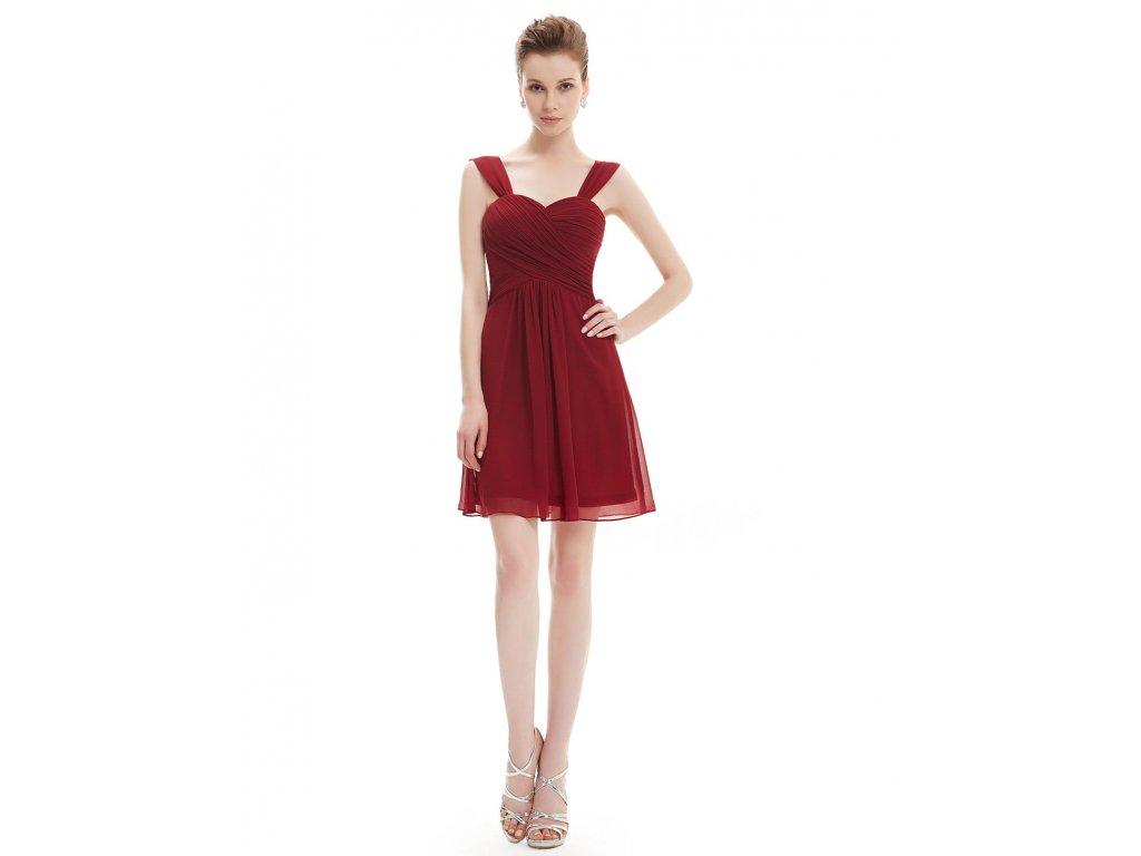 69da2dc92a4f Červené krátké společenské šaty koktejlky pro plnoštíhlé boubelky 48 ...