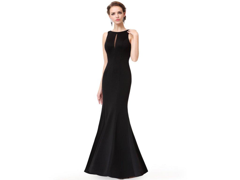 Černé dlouhé společenské pouzdrové šaty na ples 44-48 - www ... d61be4970da