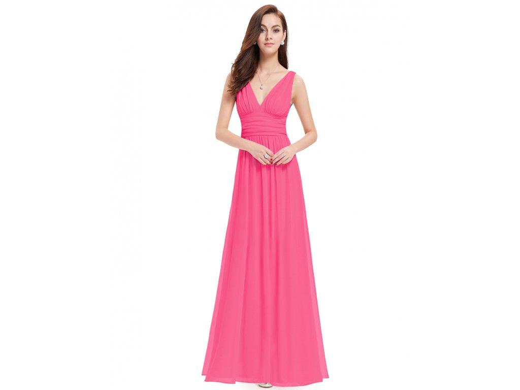 Růžové dlouhé společenské šaty na ramínka na svatbu 38-40 - www ... aa871bb7cc