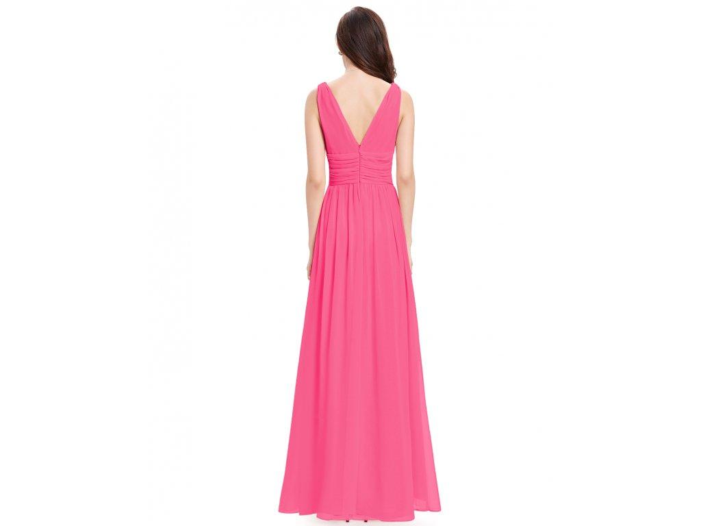 e37f9aeca5c5 Růžové dlouhé společenské šaty na ramínka na svatbu 38-40 - www ...