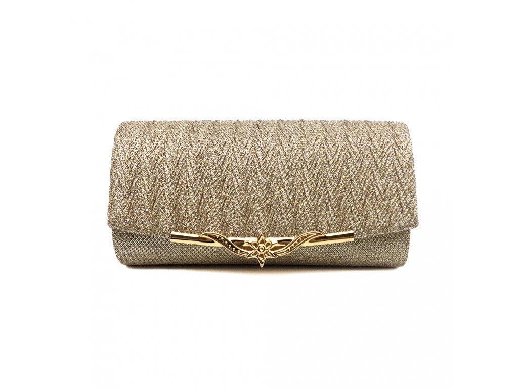 1f57892adb ... Champagne krémová luxusní mini kabelka psaníčko na ples svatbu do  společnosti se zlatou přezkou 1 ...