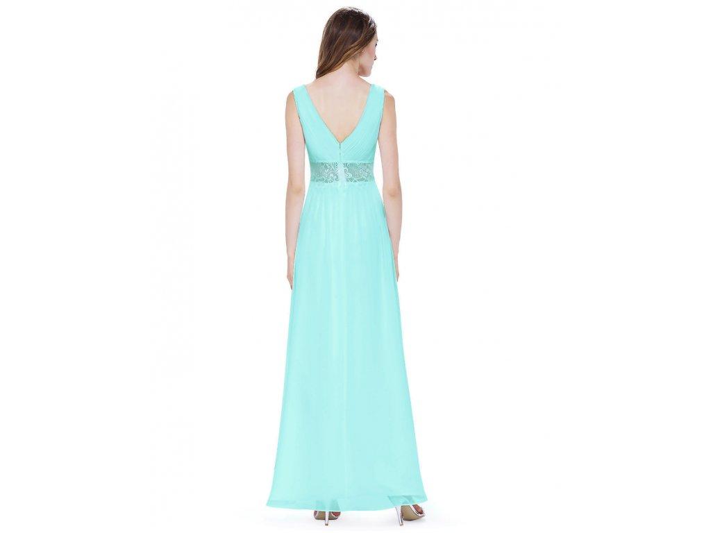 fb47d4dcaee ... Tyrkysové modré dlouhé luxusní svatební společenské šaty na svatbku s  krajkou v pase 2 ...