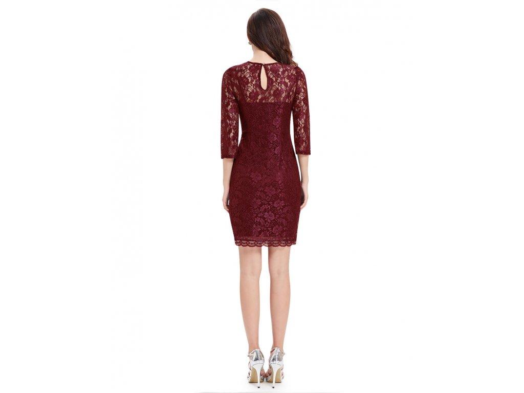 ... Červené krátké společčnské krajkové šaty koktejlky s rukávem 2 ... d61ee223eb