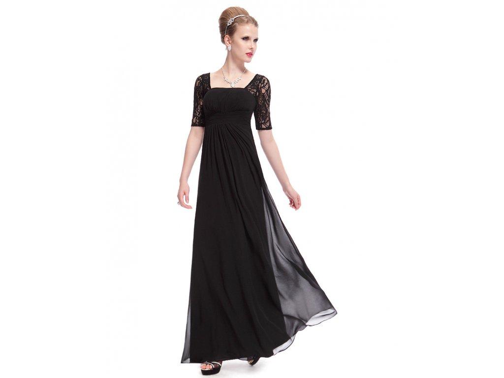 Černé dlouhé večerní společenské šaty s rukávem elegantní těhotenské ... c0b49e2992e
