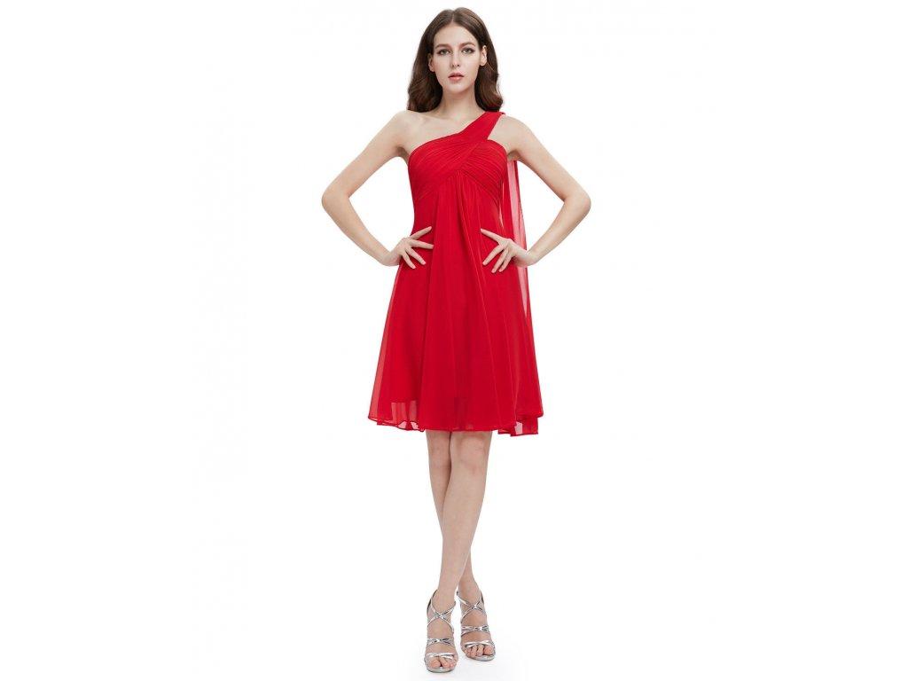 ... Červené krátké společenské šaty koktejlky na jedno ameno se závojem  těhotenské 4 ... 0aa7027c0c