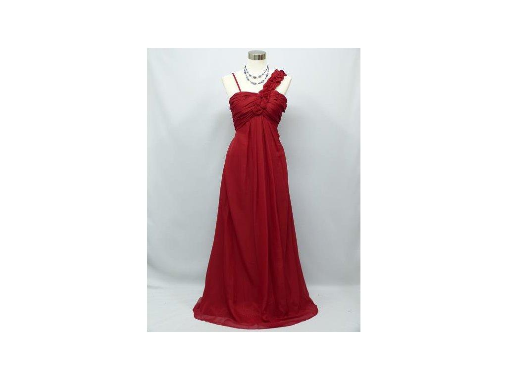 b9b8e085e83f Červené dlouhé společenské šaty antického střihu pro těhotné a plnoštíhlé  C2396