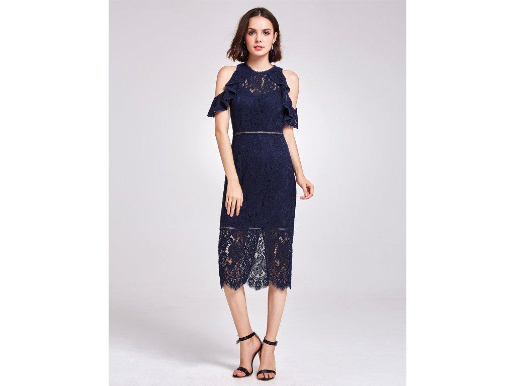 59ad64b81ed6 ... Tmavě modré krátké krajkové společenské šaty koktejlky na ples 5 ...