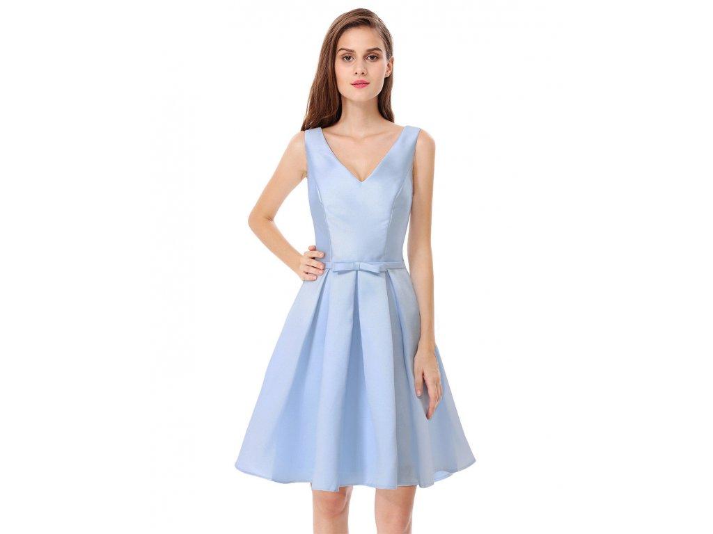 Modré světlé krástké společenské šaty lesklé na svatbu pro ružičku 2 ... 8b5886ebfe8