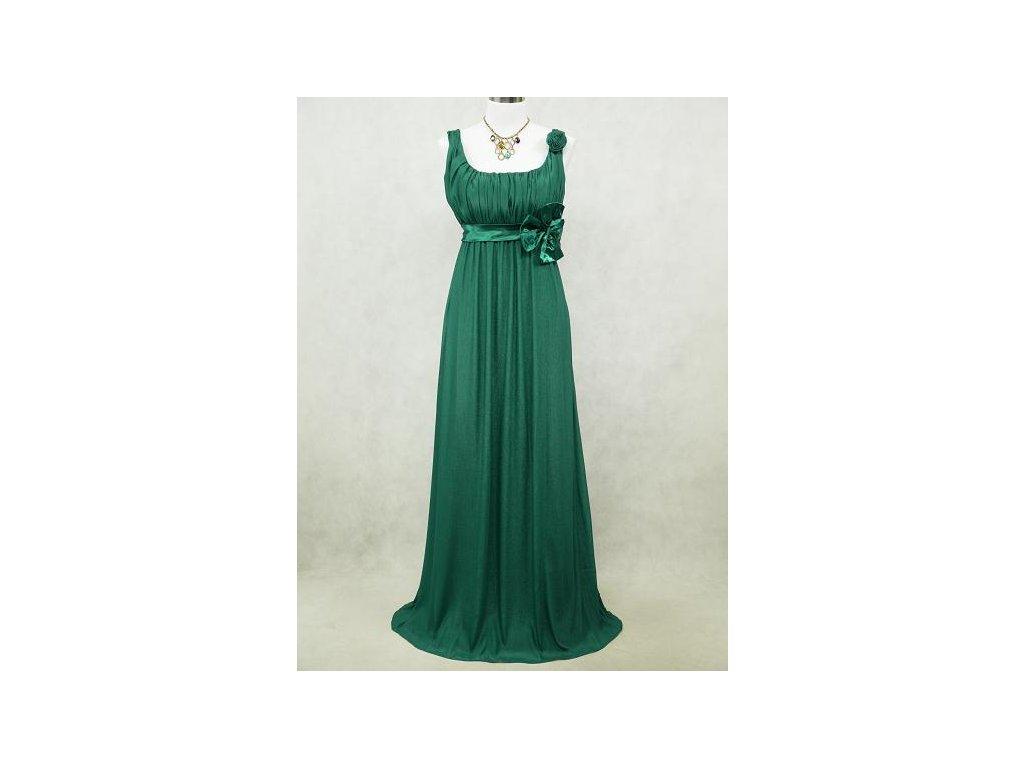 358e5e1e836 Zelené dlouhé šifonové šaty empírové i pro těhotné v nadměrné velikosti