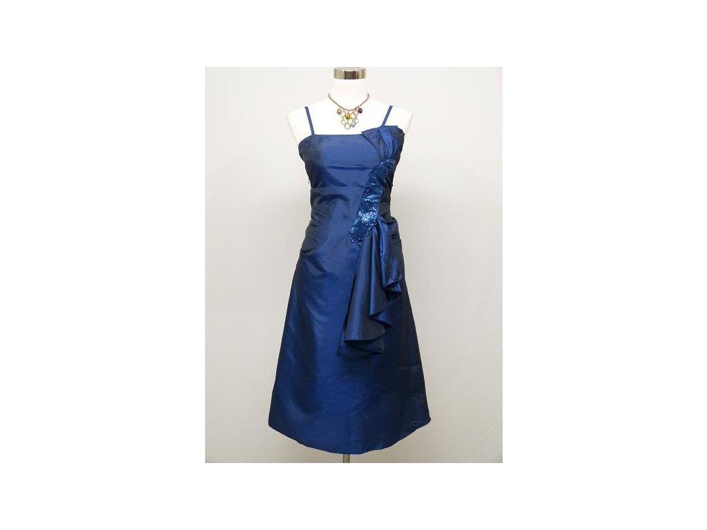 7aecf443ba12 Modré krátké společenské šaty po kolena na ples do tanečních 46-50 ...