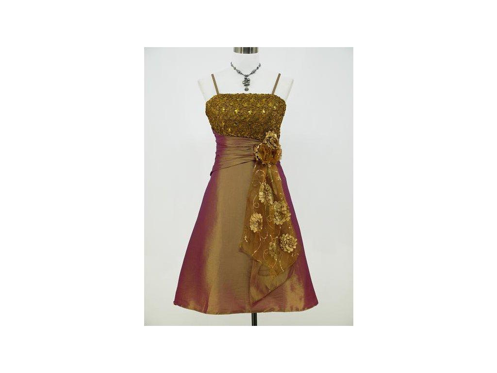 e7fa8573c41 Zlaté koktejlky společenské šaty po kolena na ples 40-46 - www ...
