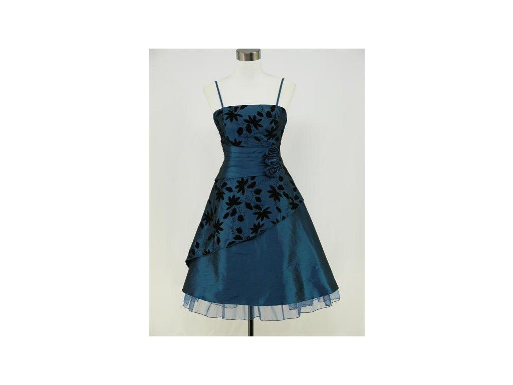 3d656502cf46 Modré krátké retro šaty s potiskem na ples do tanečních 34-40 - www ...