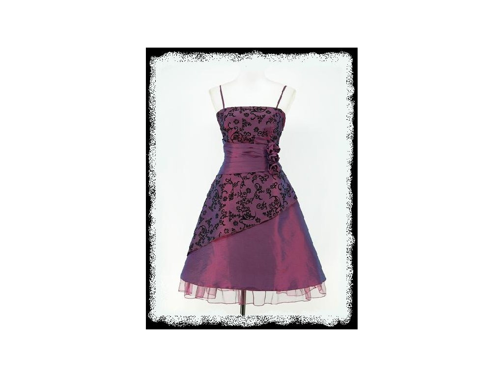 5290778b9873 Fialové krátké retro společenské šaty do áčka po kolena 36-40 - www ...
