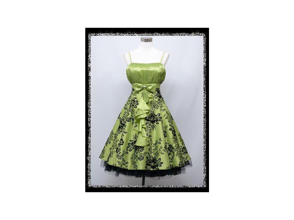 a238c5dab545 Zelené světlé krátké plesové šaty retro na ples 44-50 - www ...