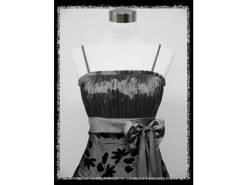 28894b3d5d8b Stříbrné krátké plesové šaty retro nejen pro plnoštíhlé baculky 50 ...