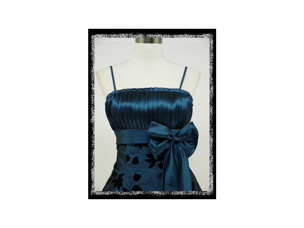 3ed8dca09db3 Modré krátké plesové šaty retro nejen pro plnoštíhlé baculky 46-50 ...