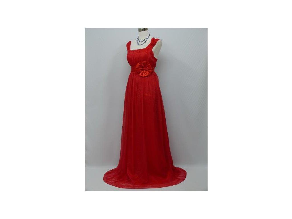 061f3b103321 ... Červené společenské šaty empírového střihu vhodné i pro těhotné C0410c  ...