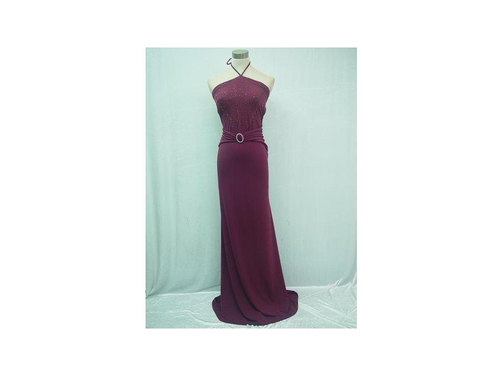 1fe758d8bb2 Fialové elastické dlouhé sexy společenské šaty za krk - www ...
