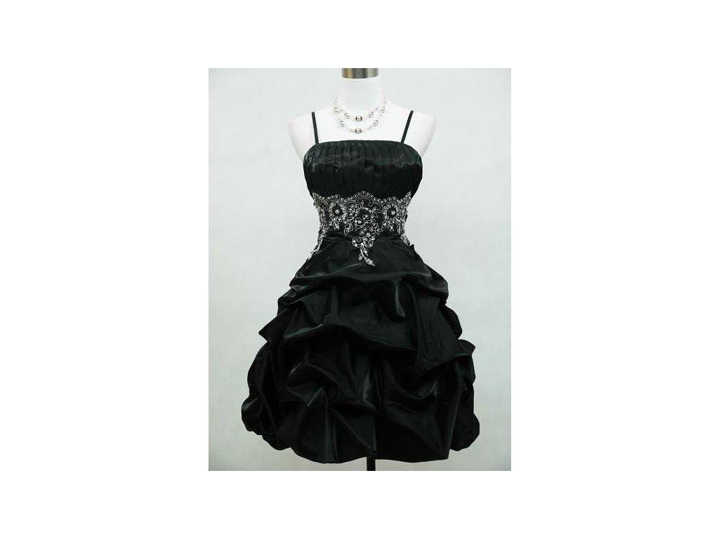 a19d04b8a293 Černé krátké společenské šaty s balónovou sukní pro baculky - www ...