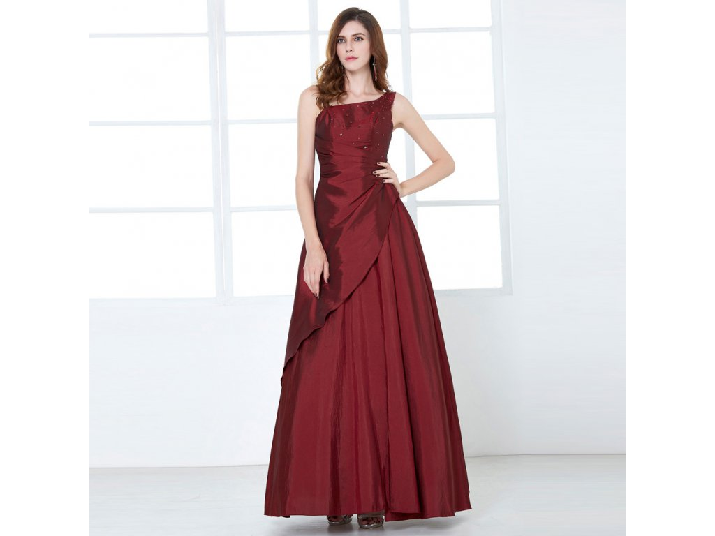 Červené bordó dlouhé společenské plesové šaty nadměrná velikost pro ... 9541469c05e