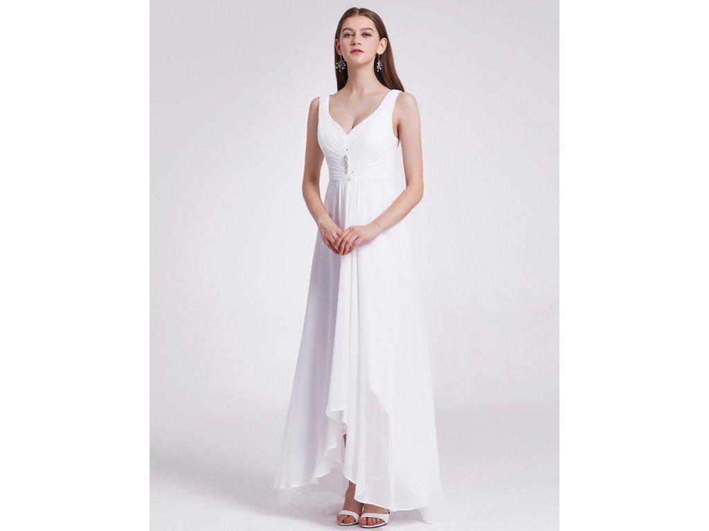 Bílé dlouhé svatební šaty v předu kratší vhodné i pro těhotné - www ... 4f47ea115e