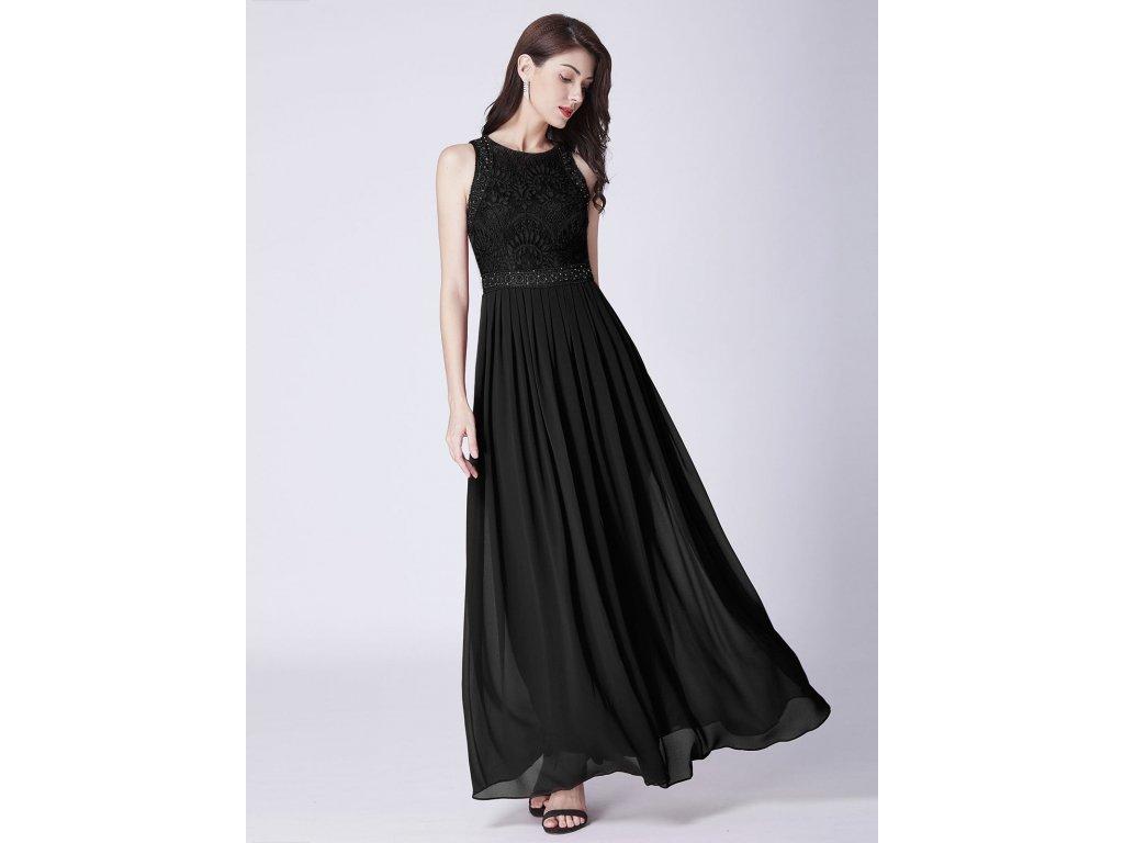 Černé dlouhé luxusní společenské šaty bez rukávů pro těhotné - www ... 2cef2b31ef