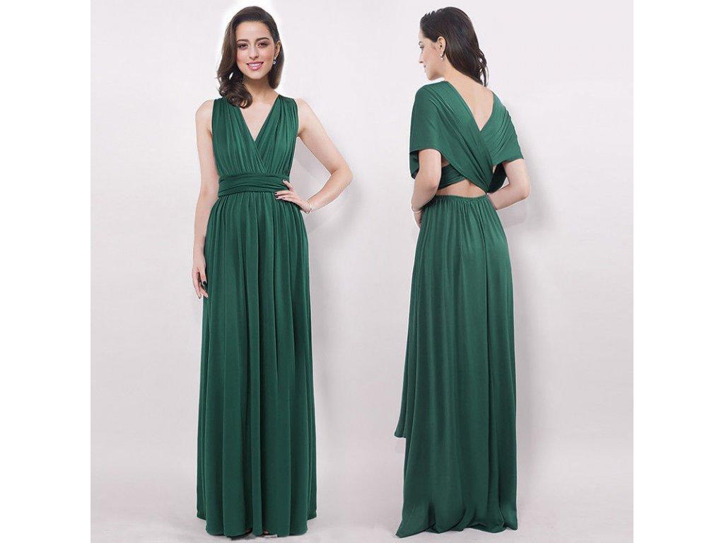 7a42d8f9cf6b Zelené dlouhé společenské letní variabilní sexy šaty - www ...