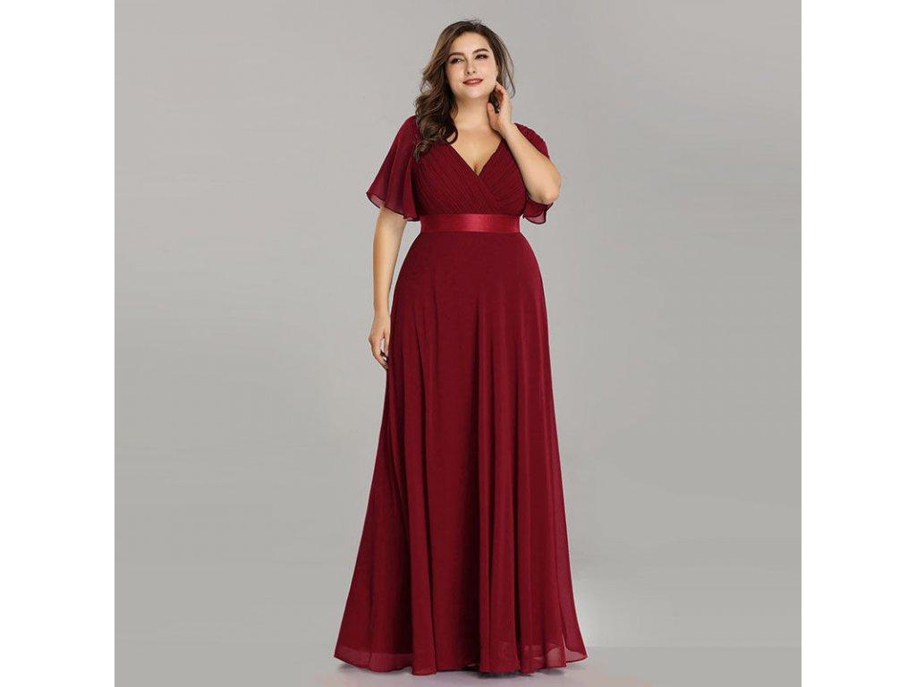 195823e5af5f Červené luxusní společenské šaty v nadměrné velikosti na ples - www ...