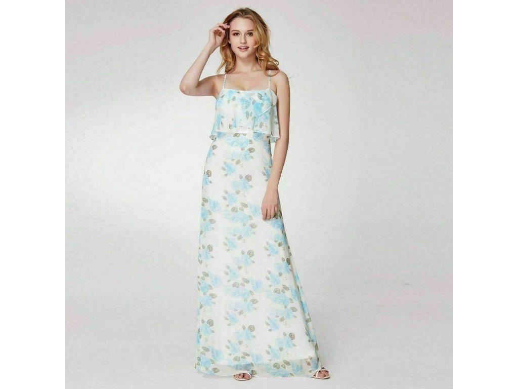 9afcf8161003 Bílé dlouhé letní společenské svatební šaty se vzorem - www ...