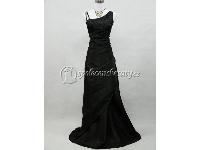 Černé společenské šaty zavinovací